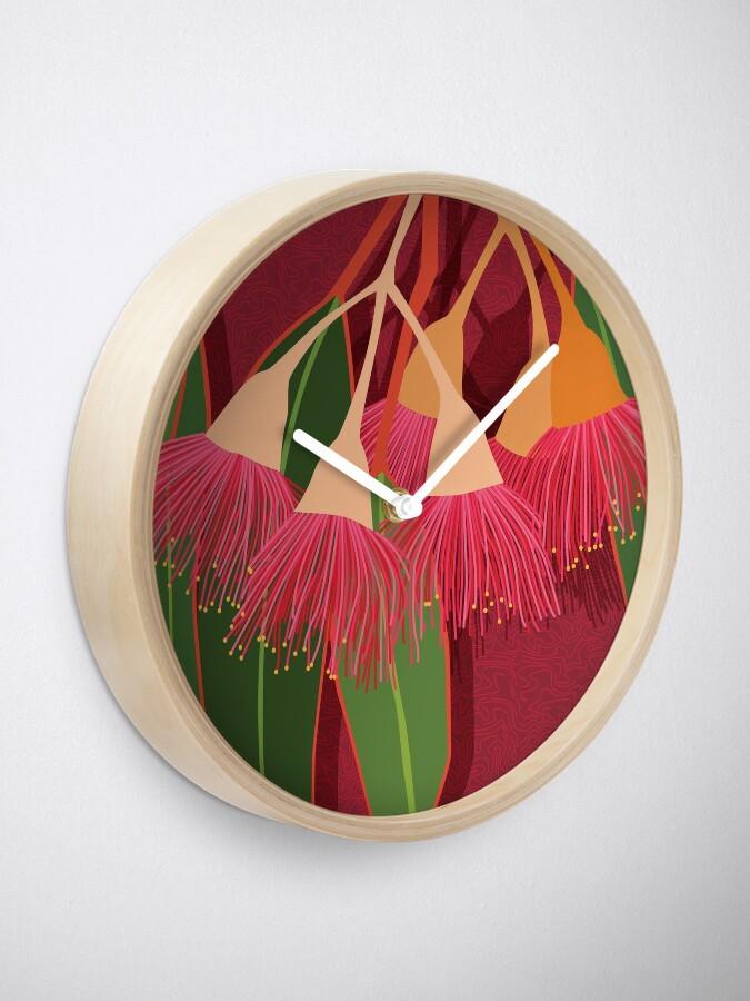 Alternate view of Pink Flowering Gum Clock