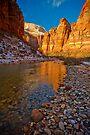 Zion Big Bend Reflection by photosbyflood
