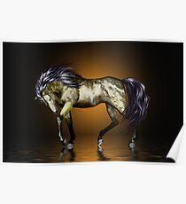 Metalica .. golden stallion  Poster
