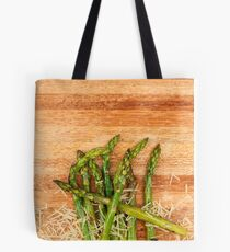 Grilled asparagus and parmesan cheese. Tote Bag