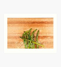 Grilled asparagus and parmesan cheese. Art Print