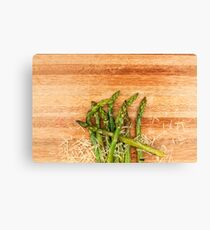 Grilled asparagus and parmesan cheese. Canvas Print