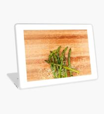 Grilled asparagus and parmesan cheese. Laptop Skin