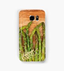 Grilled asparagus and parmesan cheese Samsung Galaxy Case/Skin