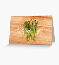 Grilled asparagus and parmesan cheese Greeting Card