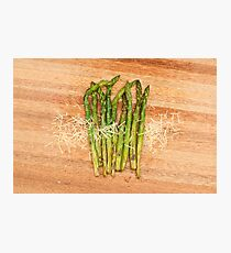 Grilled asparagus and parmesan cheese Photographic Print