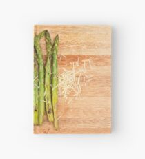 Grilled asparagus and parmesan cheese Hardcover Journal
