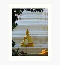 """Bhumisparsa Mudra""/ Enlightment and Steadfastness""- Thai Wat Art Print"