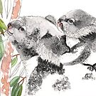 Koala Mother and Baby by blueidesign