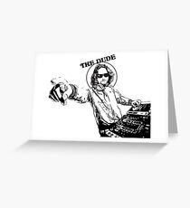 Big Lebowsky DeeJay Greeting Card