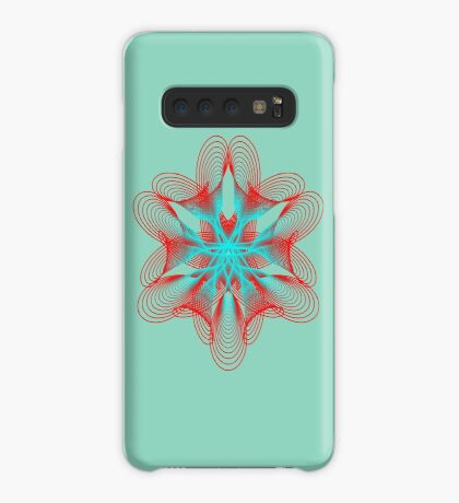Spirograph with red and blue Case/Skin for Samsung Galaxy
