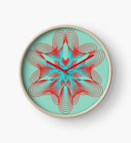 Spirograph with red and blue Clock