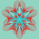 Spirograph with red and blue by Shapes-Mania
