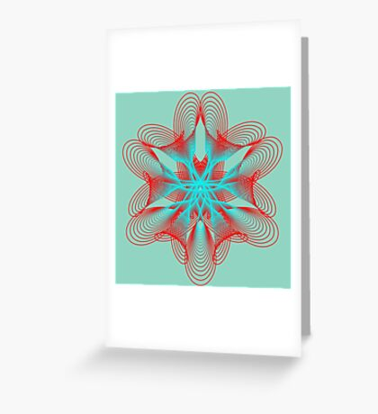 Spirograph with red and blue Greeting Card