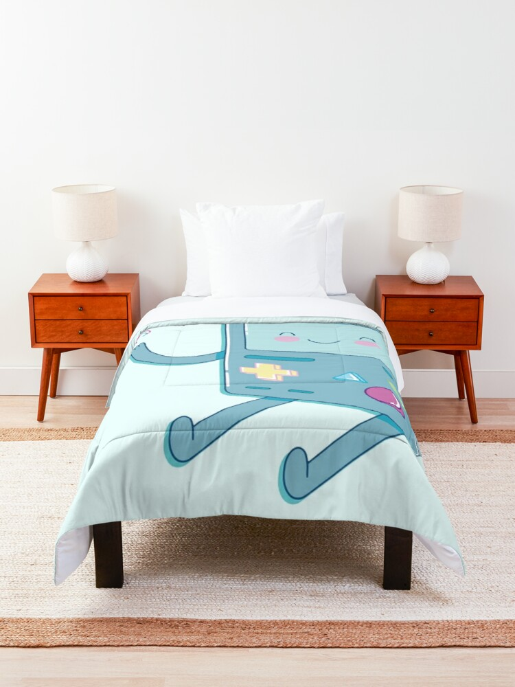 Alternate view of Bmo & Butterfly (Adventure Time) Comforter