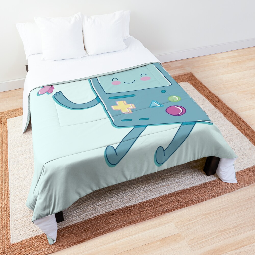 Bmo & Butterfly (Adventure Time) Comforter