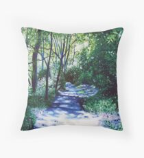 'There Be Light Around the Bend' Throw Pillow