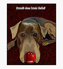 Gromit does Comic Relief Photographic Print