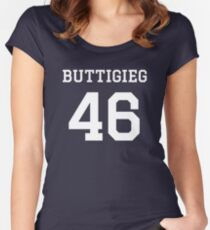 Buttigieg #46 (for darker color shirts) Fitted Scoop T-Shirt