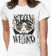Rose and The Ravens {Stay Weird} Colour Version Fitted T-Shirt