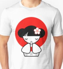 Pray for Japan Kokeshi Doll Unisex T-Shirt