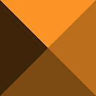 Geometric Pattern: Pyramid: Orange Dark by * Red Wolf