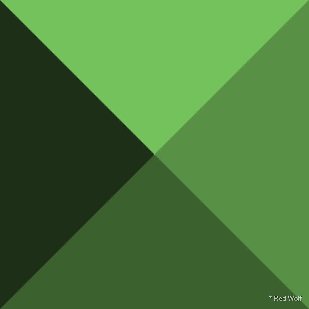 Geometric Pattern: Pyramid: Green Dark by * Red Wolf