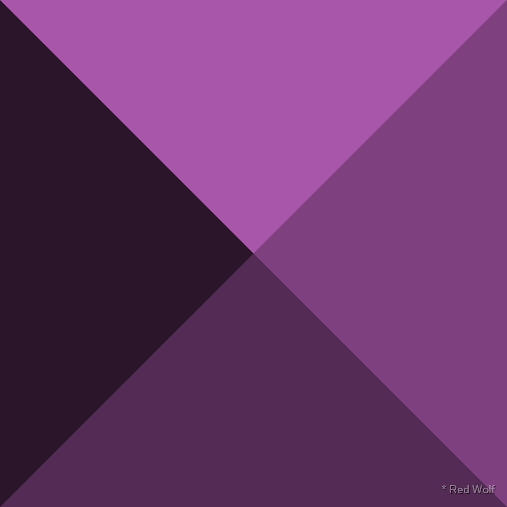 Geometric Pattern: Pyramid: Purple Dark by * Red Wolf