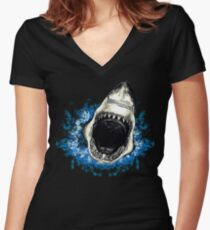 Shark Fitted V-Neck T-Shirt