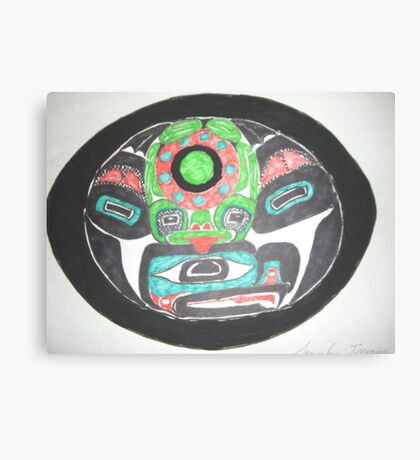 Northwest Native Influence on Frog Canvas Print