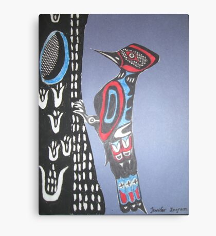 Northwest Native Influence of Woodpecker Canvas Print
