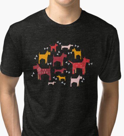 Dogs Funny Tri-blend T-Shirt