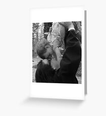 Love is in the Air [b&w} Greeting Card