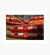 NSW Surf lifesaving comp, dinghy's, Kingscliff 2011 Art Print