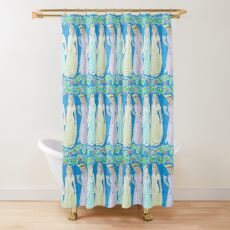 Women Of Ancient Greece Dancing Holding Hands Shower Curtain