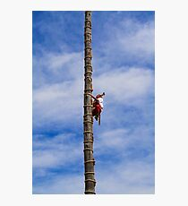 Traditional Mayan Flyer Man, Mesoamerican ritual in Mexico Photographic Print