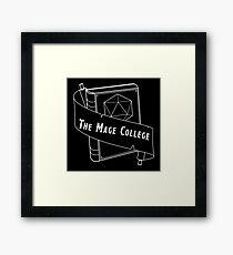 The Mage College logo White Framed Print