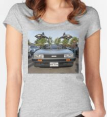 DeLorean DMC12 Women's Fitted Scoop T-Shirt