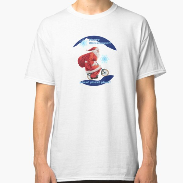 Here comes Santa on a bicycle Classic T-Shirt