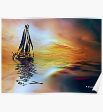 SAILING ON A SUMMER AFTERNOON, by E. Giupponi Poster