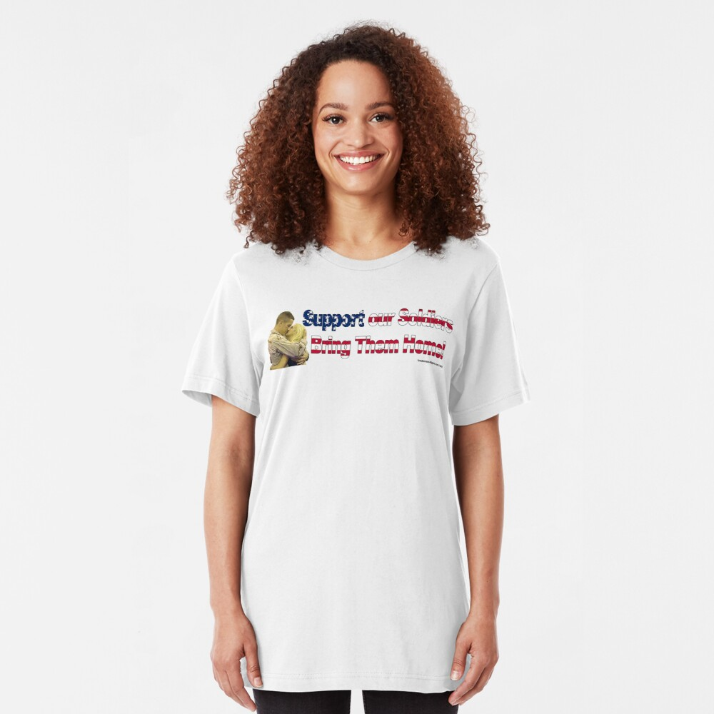 Support Our Soldiers Slim Fit T-Shirt