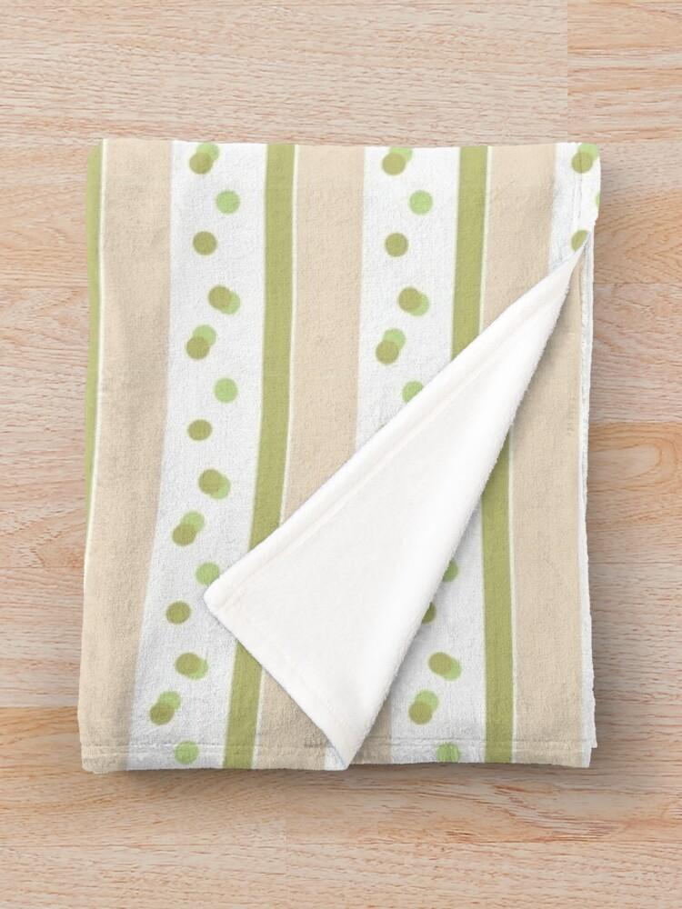 Alternate view of Out Damn Spot! Green/Beige Throw Blanket