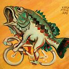 Bass on a Bicycle by Ellen Marcus