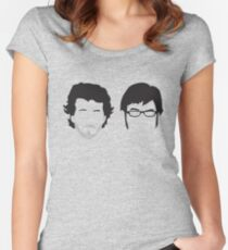Flight of the Conchords Silly-ettes Women's Fitted Scoop T-Shirt