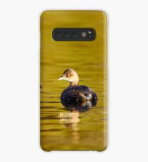 Little grebe in green gold water Case/Skin for Samsung Galaxy