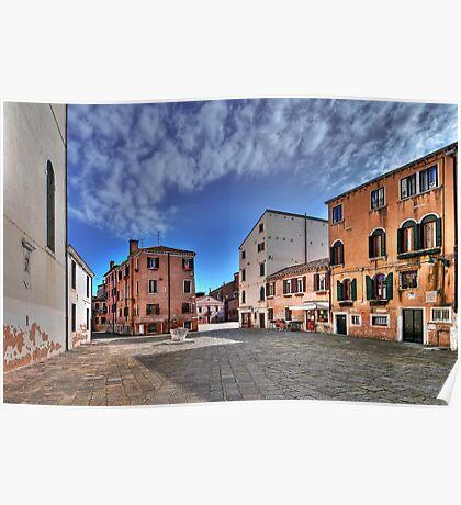 A hidden, quiet Venice - Campo de l'Anzolo Rafael Poster