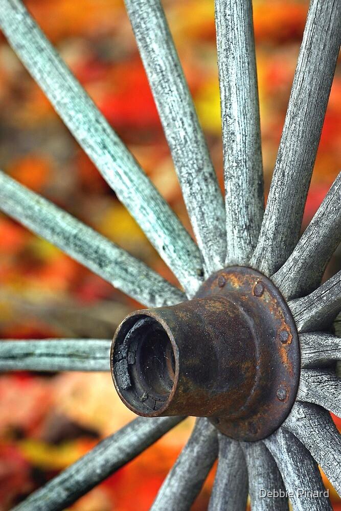 Old Wagon Wheel - Dunrobin by Debbie Pinard