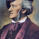 Richard Wagner profile porrait with autograph by edsimoneit