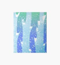Wintery Trees Art Board Print