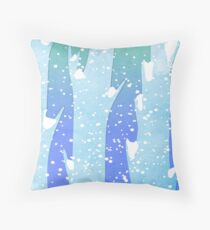 Wintery Trees Throw Pillow